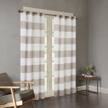 Mason Yarn Dyed Woven Sheer Window Panel