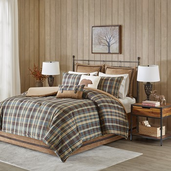 Hadley Plaid Comforter set