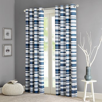 Sadie Cotton Stripe Printed Curtain