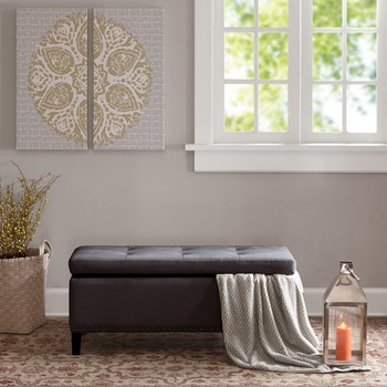 Shandra II Tufted Top Storage Bench