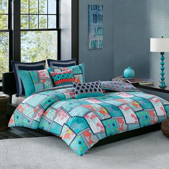 Mix & Match Cotton Reversible Print comforter set