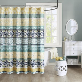 Arissa 100% Microfiber Printed Shower Curtain