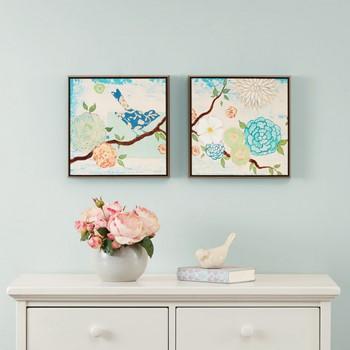 Blooming Florals Gel Coat Deco Box 2 Piece Set