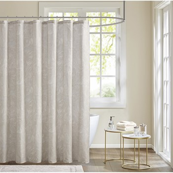 Emory Cotton Printed Shower Curtain