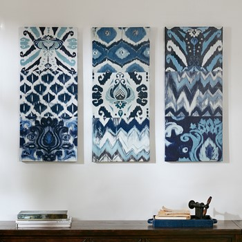 Flourish Ikat Gel Coat Canvas 3 Piece Set