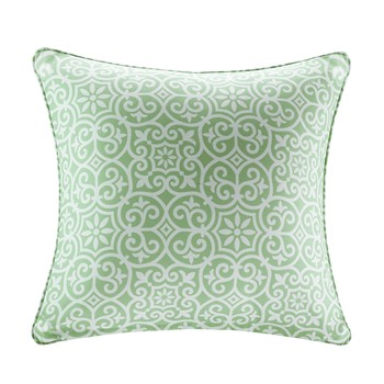 Aptos Printed Fret 3M Scotchgard Outdoor Square Pillow