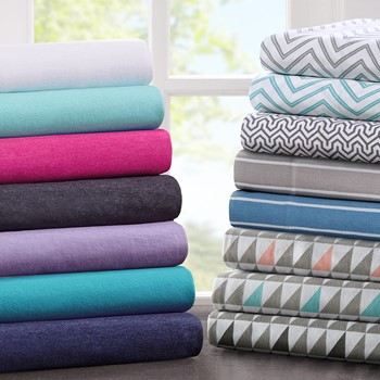 Cotton Blend Jersey Knit Sheet Set