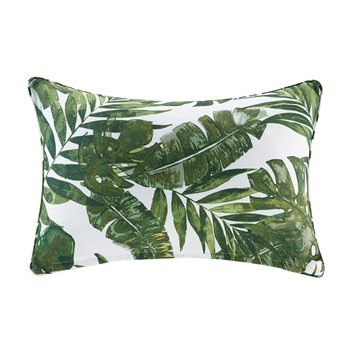 Everett Printed Palm 3M Scotchgard Outdoor Oblong Pillow
