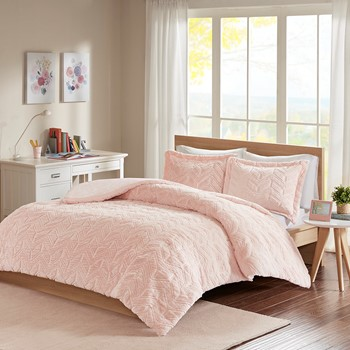 Laila Chevron Ultra Plush Comforter Mini Set