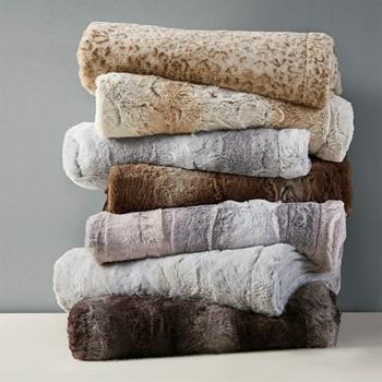 Zuri Oversized Faux Fur Throw