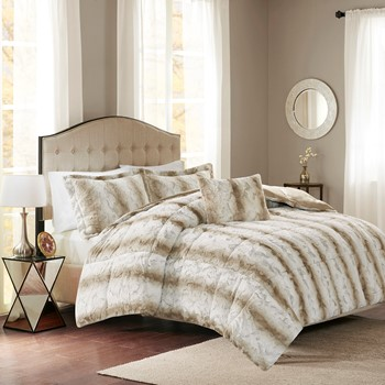 Zuri Faux Fur Comforter Set