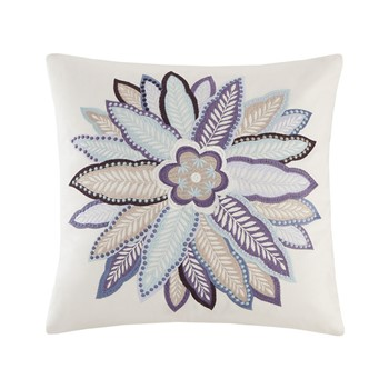 Ivy Paisley Embroidered Cotton Decorative Pillow