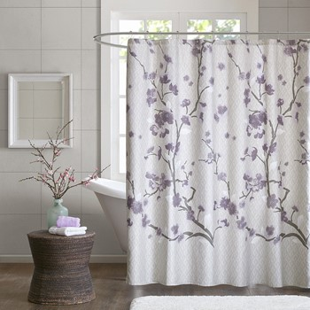 Holly Cotton Shower Curtain