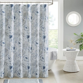 Milo Printed Cotton Shower Curtain