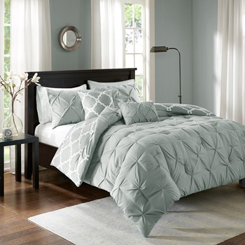 Kasey 5 Piece Reversible Comforter Set