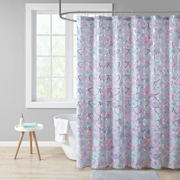 Pearl Metallic Printed Shower Curtain