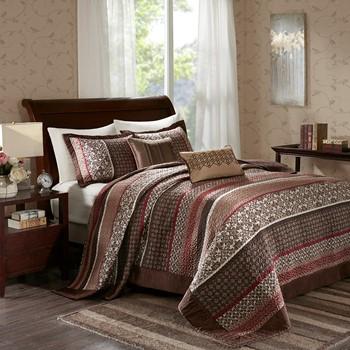 Princeton 5 Piece Reversible Jacquard Bedspread Set
