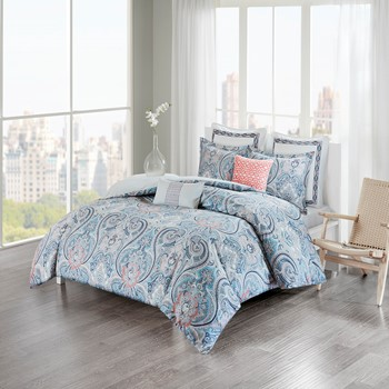 Avalon Cotton Sateen Reversible Duvet Cover Set