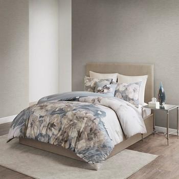 Casa Nouveau 3 Piece Metallic Print Cotton Comforter Set