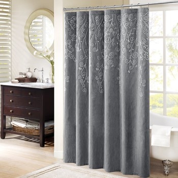 Tara Embroidered Shower Curtain