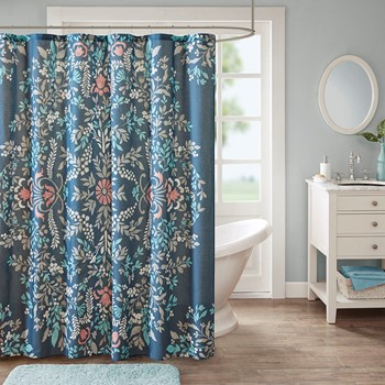 Eden Cotton Printed Shower Curtain