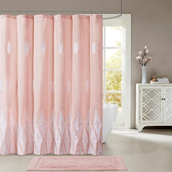 Tamara Embroidered Shower Curtain