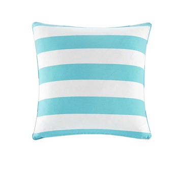 Percee Printed Cabana Stripe 3M Scotchgard Outdoor Square Pillow