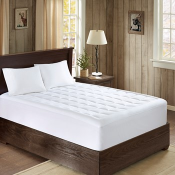Lexington 300 Thread Count Cotton Down Alternative Mattress Pad