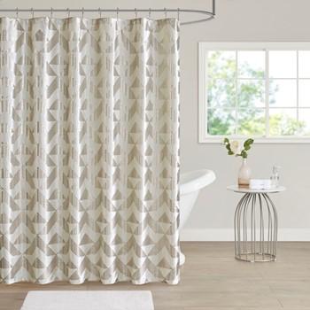 Rousseau Metallic Printed Velvet Shower Curtain
