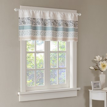 Dawn Printed and Pieced Rod Pocket Valance