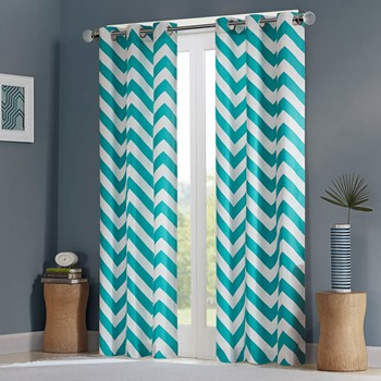 Libra Chevron Window Curtain Pair