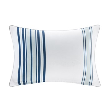 Newport Printed Stripe 3M Scotchgard Outdoor Oblong Pillow