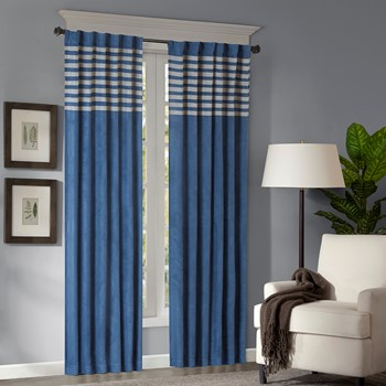 Dune Microsuede Striped Window Panel