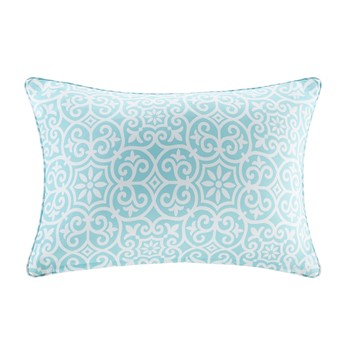 Aptos Printed Fret 3M Scotchgard Outdoor Oblong Pillow