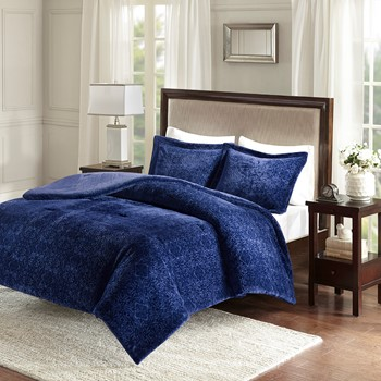 Lena Medallion Plush Comforter Set