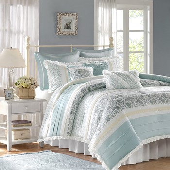 Dawn 9 Piece Cotton Percale Comforter Set