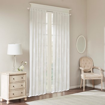 Massa Embroidered Sheer Window Curtain