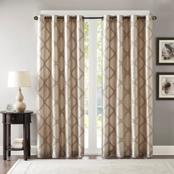 Teramo Embroidered Polyoni Window Curtain