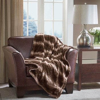 Faux Long Fur to Microlight Throw