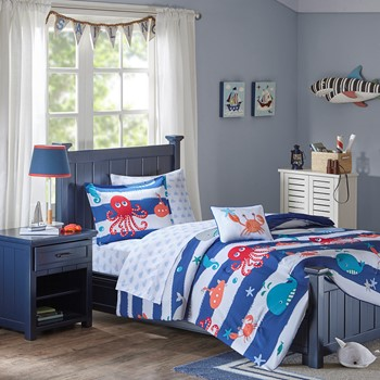 Sealife Complete Bed and Sheet Set