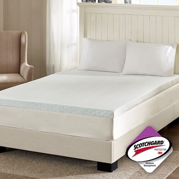 "3"" Memory Foam Mattress Topper with 3M Moisture Management"
