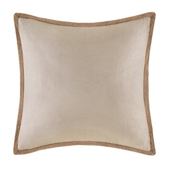Linen with Jute Trim Square Pillow