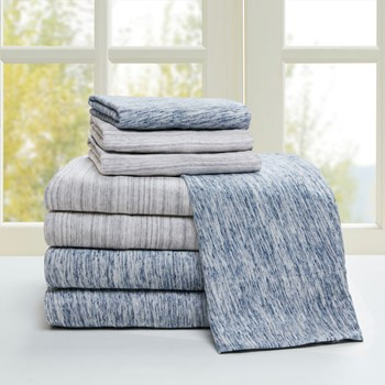Space Dyed Cotton Jersey Knit Sheet Set