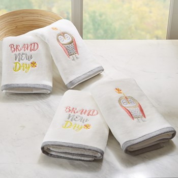 Brand New Day 4 Piece Embroidered Towel Set