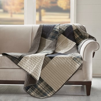 Winter Hills Quilted Throw