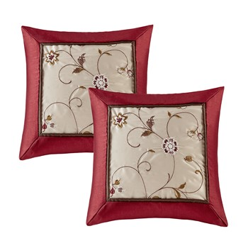 Serene Embroidered Pillow Pair