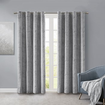 Ava Knitted Jacquard Marble Total Blackout Panel