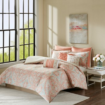 Grace 8 Piece Cotton Duvet Cover Set