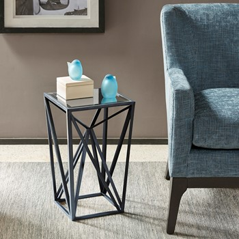 Zee Angular Mirror Accent Table