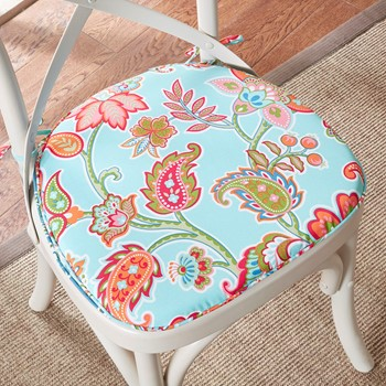 Carillo Floral 3M Scotchgard Indoor/Outdoor Chair Pad Pair